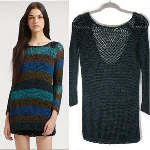 Theory Nimue S. Space Crochet Sweaterdress